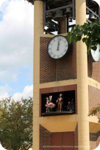 Glockenspiel clock in New Ulm, Minnesota - the most German town in America