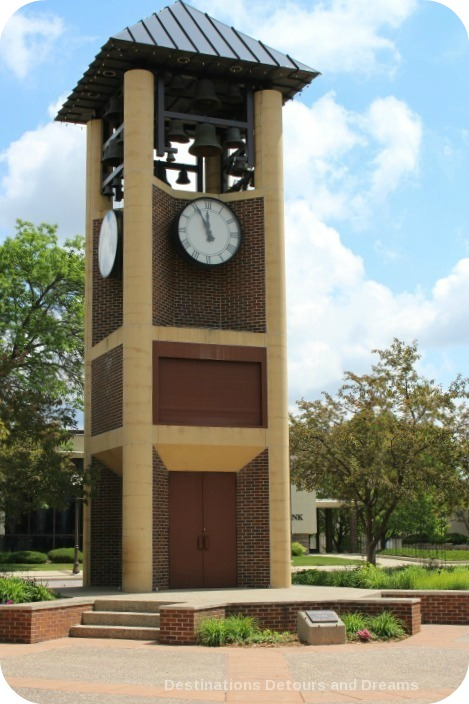 Glockenspiel clock in New Ulm, Minnesota - the most German town in America
