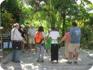 Having fun at RePapel Recycling with Fathom Travel: dance break