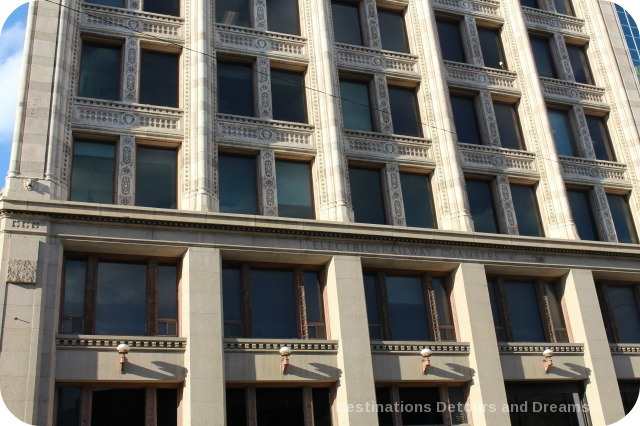 Exchange District photo tour - Electric Railway building detail