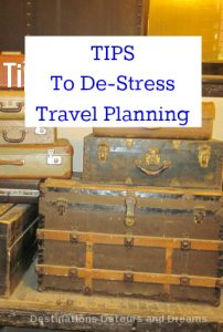 Tips to take the stress out of travel planning