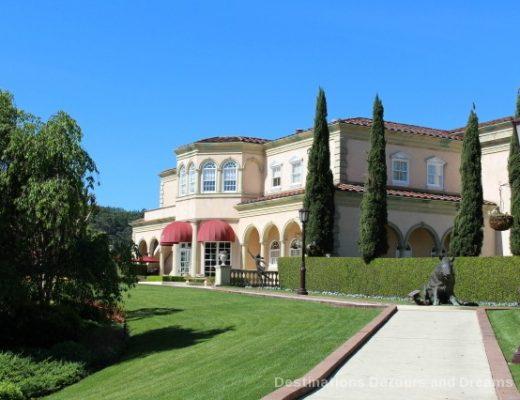 Gardens at Ferrari-Carano Vineyards and Winery Villa Fiore location in Dry Creek Valley, California