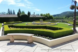Gardens at Ferrari-Carano Vineyards and Winery Villa Fiore location in Dry Creek Valley