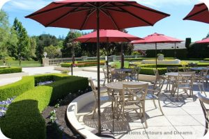 Il Terrazzo outdoor tasting patio at Ferrari-Carano, Dry Creek Valley, California