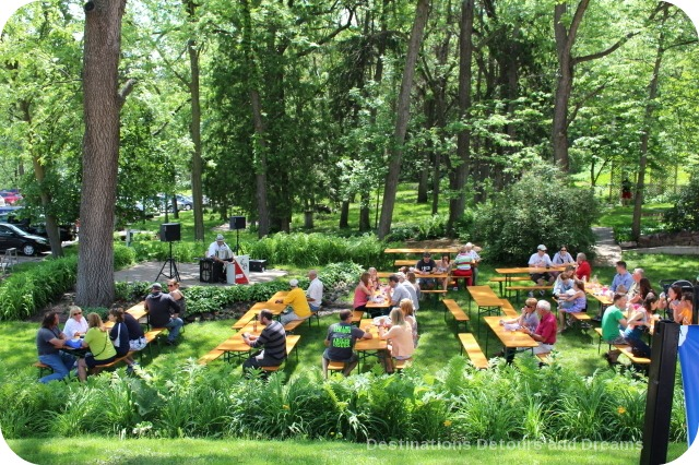 German Craft beer in Minnesota: Schell's outdoor beer garden