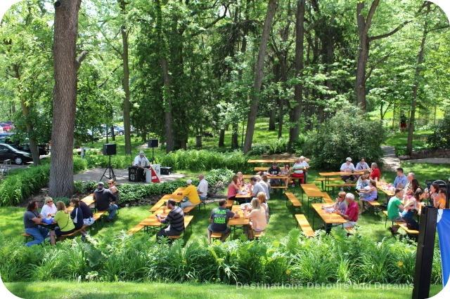German Craft beer in Minnesota: Schell's outdoor beer garden