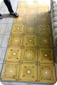 Floor canvas by Margruite Krahn, Neubergthal