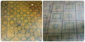 Painted floors in Manitoba Mennonite Street Village housebarn