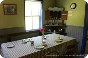 Friesen Housebarn kitchen, Neubergthal National Historic Site