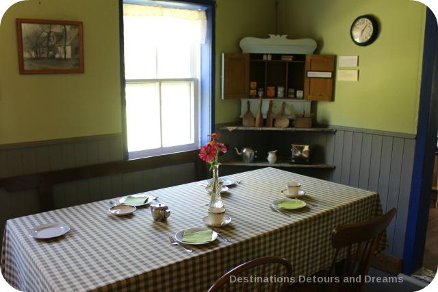 Friesen Housebarn kitchen, Neubergthal National Historic Site