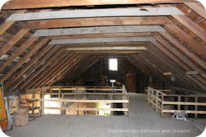 Barn loft, Friesen Housebarn, Neubergthal