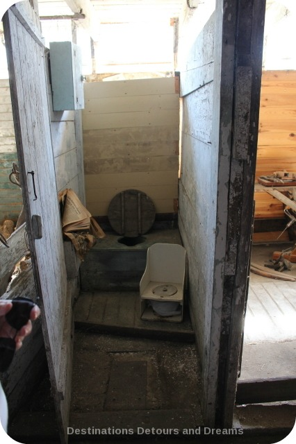 Toilet in barn, Friesen Housebarn, Neubergthal