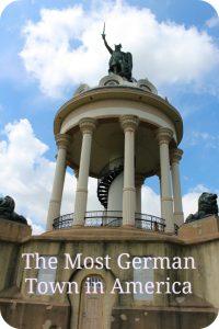 Hermann Monument in New Ulm, Minnesota - the most German town in America