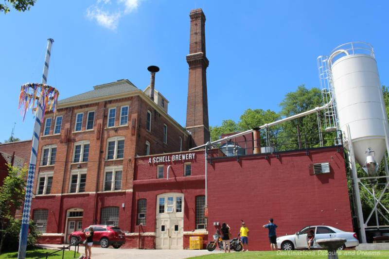 Brick brewery building