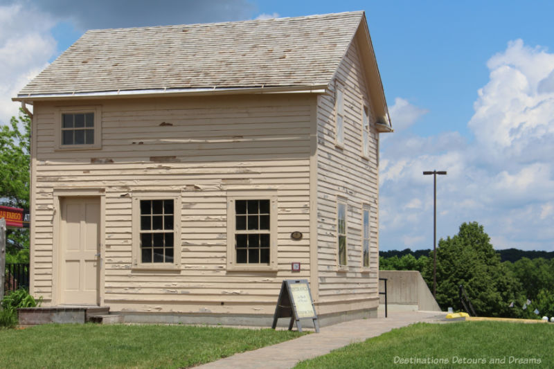 Wood frame house dating to the 1800s in New Ulm, Minnesota