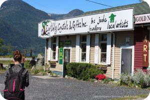 Crystal store in Britannia Beachm along the Sea to Sky Highway