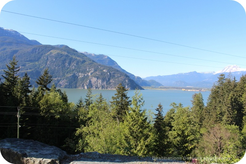 View from Tantalus Lookout on Sea to Sky Highway