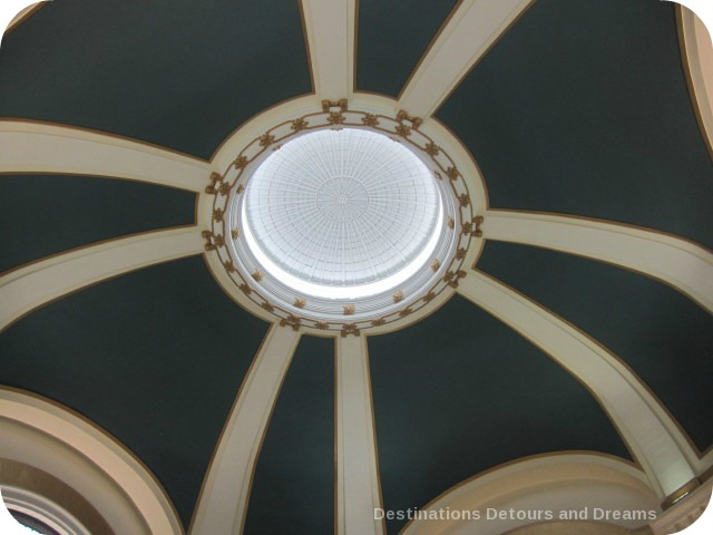 Rotunda ceiling at Union Station, Winnipeg