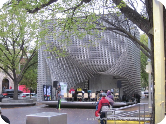 The Cube in Winnipeg's Old Market Square