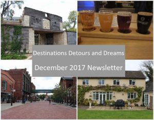 Destinations Detours and Dreams December 2017 Newsletter