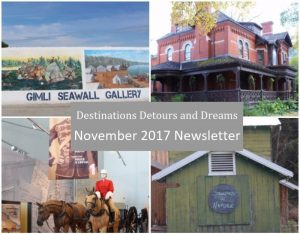 Destinations Detours and Dreams November 2017 Newsletter