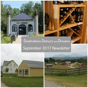 Destinations Detours and Dreams September Newsletter