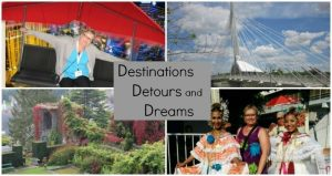 Destinations Detours and Dreams - travel stories told through narrative, photos and personal reflection