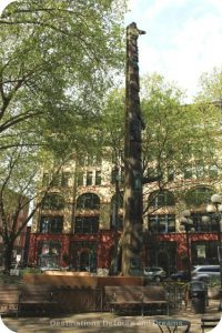 Pioneer Place Park in Seattle's oldest neighbourhood