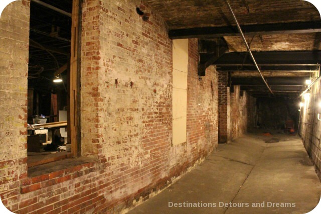 Underground Seattle in Pioneer Square.