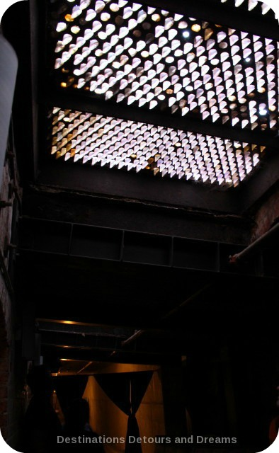 Sidewalk skylight prism in underground Seattle