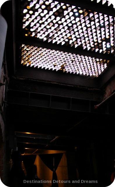 Sidewalk skylight prism in underground Seattle
