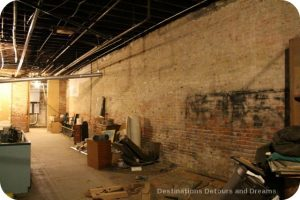 Space in Seattle Underground under renovation