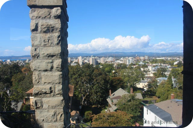 Craigdarroch Castle view of downtown Victoria