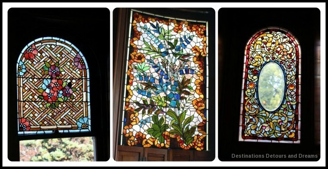Craigdarroch Castle: stained glass windows