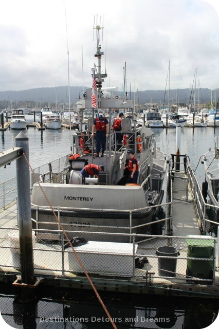 A Day in Monterery: Coast Guard rescue vessel