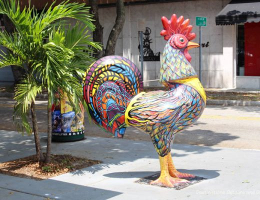 Decorative rooster in Little Havana neighbourhood in Miami, Florida