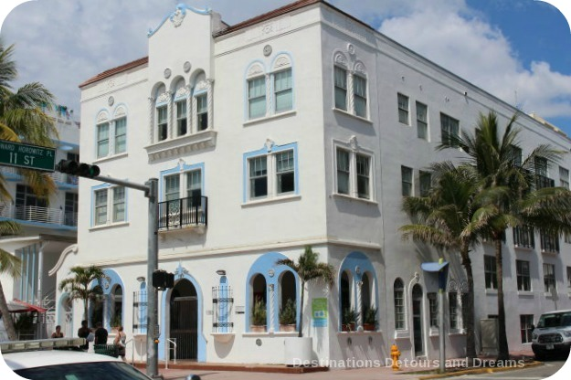 South Beach Art Deco Tour: Bon Air Hotel in Revival Mediterranean style with Art Deco touches