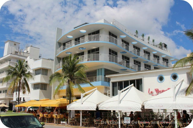 South Beach Art Deco Tour: newer building designed to fit in