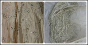 Wedding Dress View Into The Past: intricate bead word