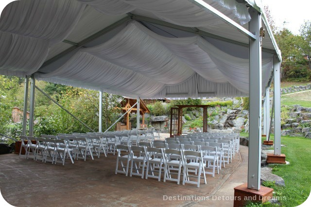 A Merry Time at Merridale Cidery: wedding tent venue