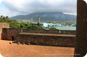 View looking toward land and Isabel de Torres Peak from Fort San Felipe