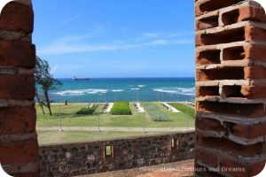 View looking the Caribbean from Fort San Felipe