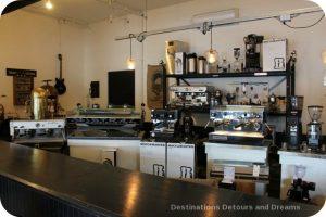 Coffee making equipment display