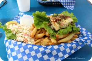 Fish and chips in Cowichan Bay
