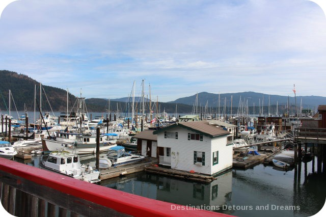 Marina at Cowichan Bay on Vancouver Island