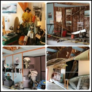 Displays at Cowichan Bay Maritime Centre museum