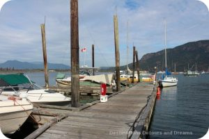 Pier at the quaint seaside village of Cowichan Bay on Vancouver Island