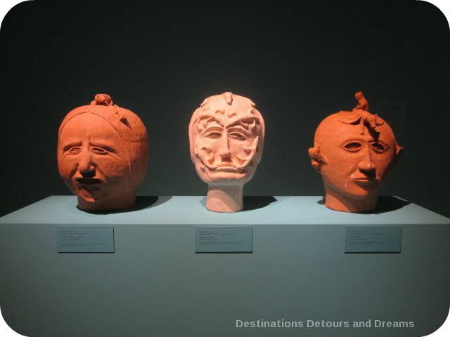 Clay sculptures by Robert Tatty