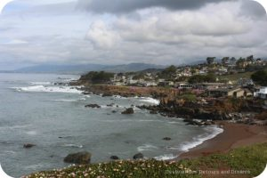 Cambria along California Pacific Coast Highway