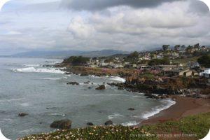 Cambria along California Pacific Coast Highway